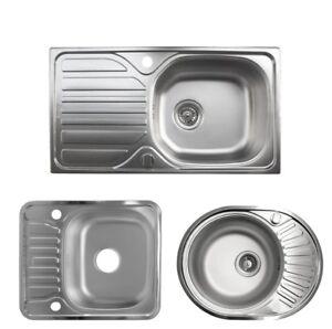 Edelstahlspüle Küchenspüle Einbauspüle Spüle Spülbecken Küche NEU | eBay