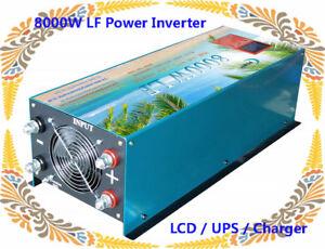 8000W LF Split Phase PSW 24V DC/110V,220V AC 60Hz Power Inverter LCD/UPS/Charge<wbr/>r