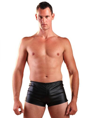 Kunstleder Shorts für Männer