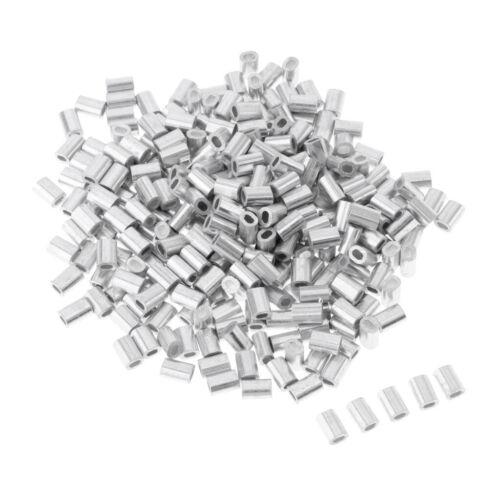 100 Stück Klemmhülsen Quetschhülsen aus Aluminium für Angeln Wallerangeln