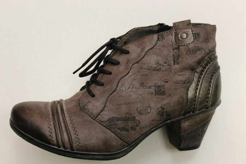 Damen Stiefel Gr 38 Ankle Boots Stiefelette Remonte- grau hingucker Pumps Gr 5