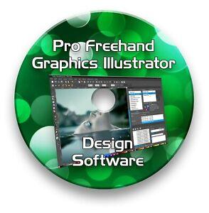 Free Hand Illustrator Vector Graphic Svg Eps Software On Cd Windows Mac Ebay