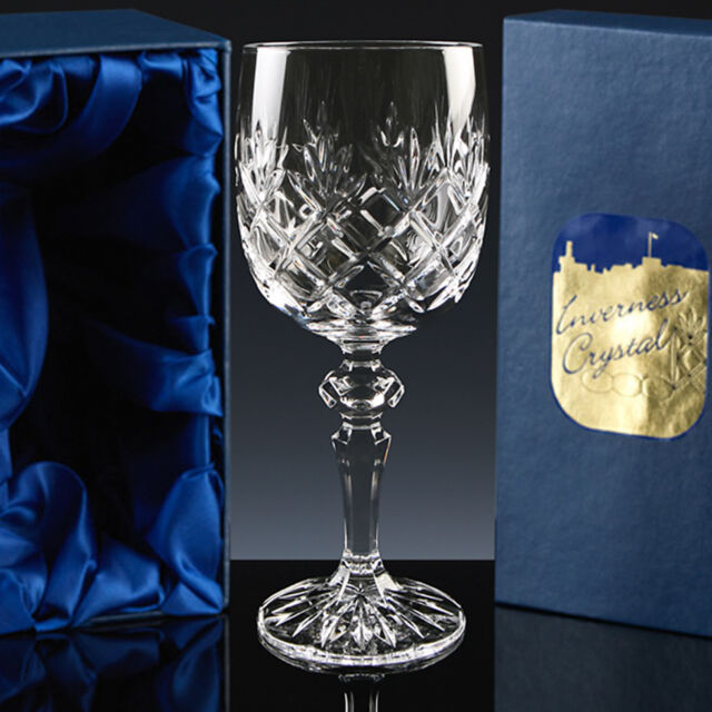 INVERNESS TRADITIONAL FULLY CUT CRYSTAL WINE GLASSES.  SET OF 6, 2 OR 1.