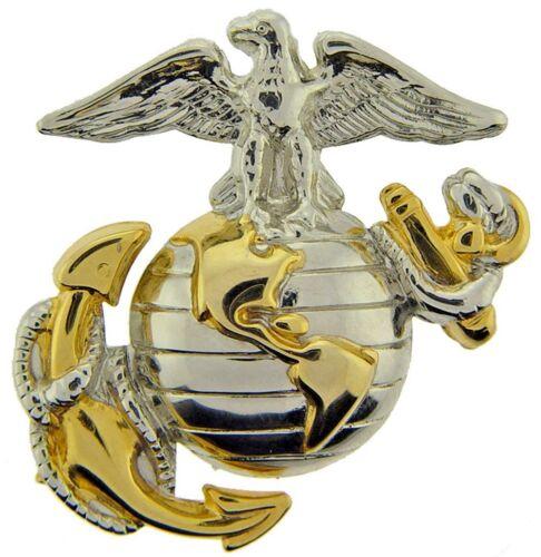 "Eagle Globe and Anchor Emblem Hat Pin 1 1//8/"""