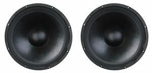"""15/"""" Subwoofer Replacement Speakers.4ohm Woofers.Home Pro Audio Bass.PAIR NEW 2"""