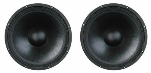 """15/"""" SubWoofer Speakers.8ohm PA woofer pair 2 NEW Replacement.Bass Cabinet Pro"""