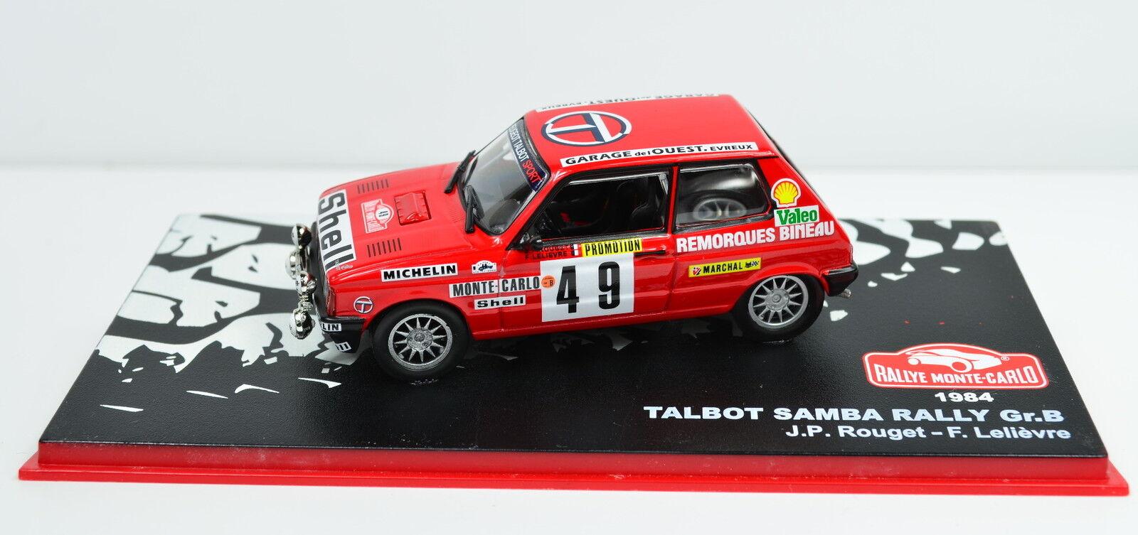 Talbot Samba Course size B Lacs Monte-Carlo 1984 échelle 1 43