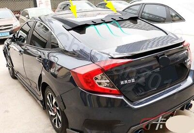 ABS Rear Roof Factory Style Spoiler Wing for 2016-2018 Honda civic Sedan TypeR A