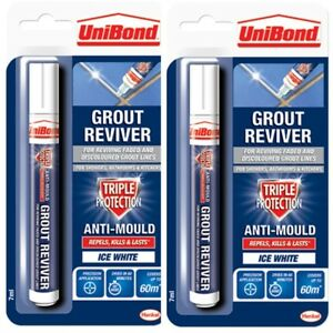 2-x-Grout-Reviver-Pen-Unibond-Antibacterial-Easy-Whitener-Mould-Touch-Up-Paint