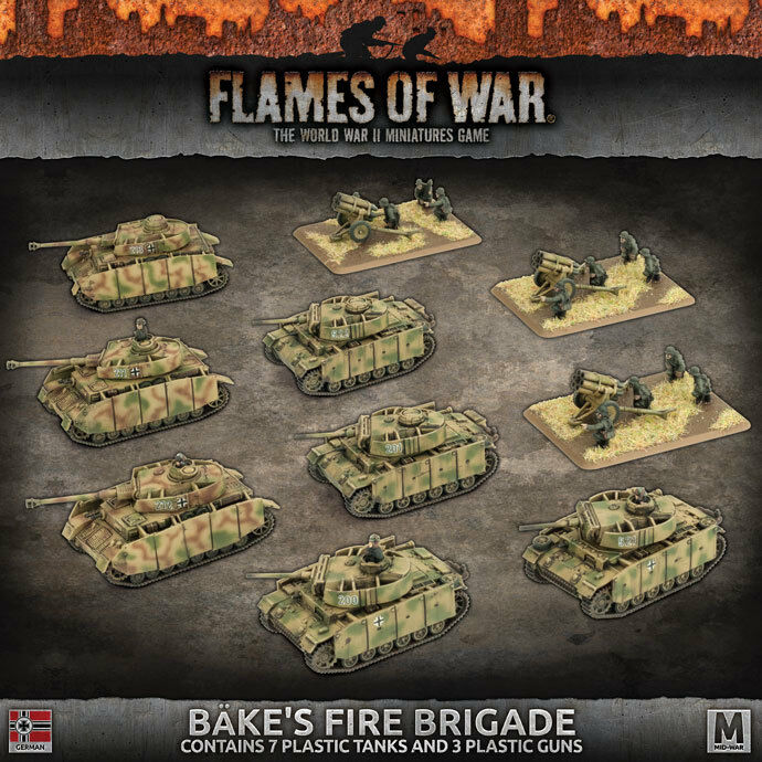 BATTLEFRONT MINIATURES FLAMES OF WAR BAKES FIRE BRIGADE GEAB17 BNIB