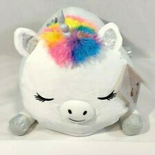 "NEW Justice Initial Unicorn Squishmallow Jumbo Cuddle Pillow 20/"" Super Soft K"