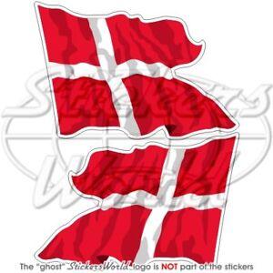 DENMARK-Danish-Flying-State-Flag-120mm-Vinyl-Bumper-Stickers-Decals-x2