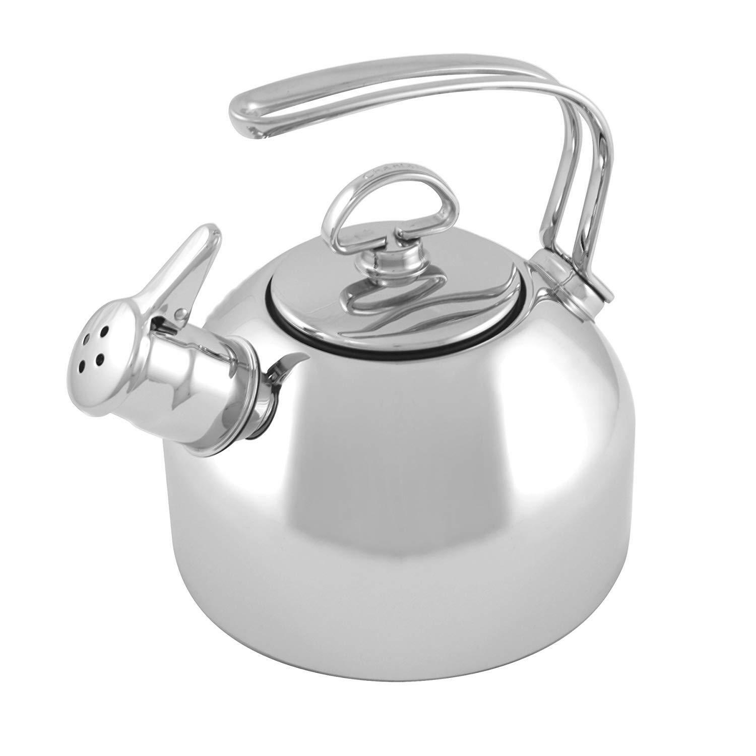 Chantal 1.8 Qt Classic Stainless Steel Stovetop Tea Kettle Teakettle New