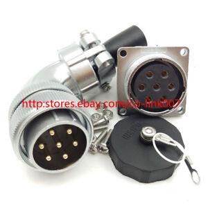 WS28-7Pin-Waterproof-Connector-25A-Aviation-Bulkhead-Connector-Circular-Plug