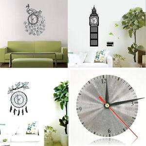 Chic Luxury Diy Mirror Design Wall Clocks Home Decor Stickers Art Wall Clock Ebay