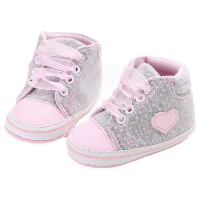 45a2b9d6b Newborn Baby Girls Kids Soft Sole Crib Shoes Infant Toddler Sneaker ...