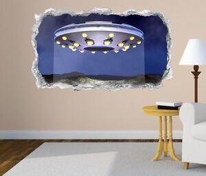 3D-sticker-mural-ufo-vaisseau-univers-lune-Autocollant-Mural-Passage-11n756