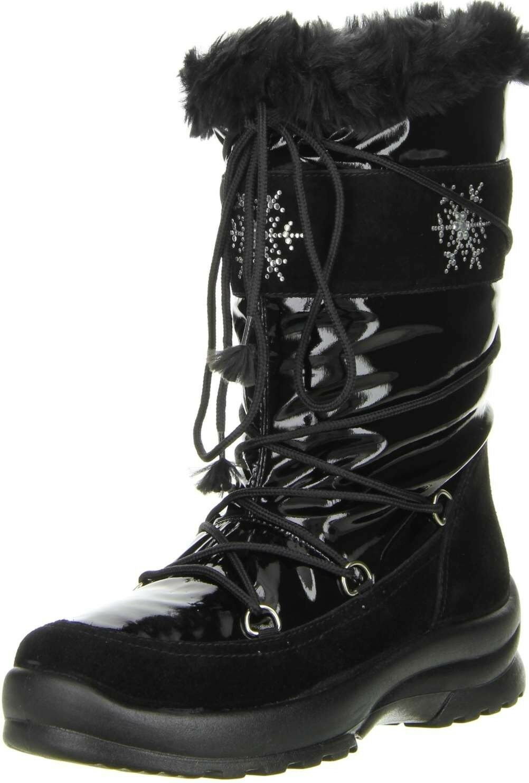 San Bernardo Damen Winterstiefel SnowStiefel Lackoptik schwarz schwarz schwarz f50a3b