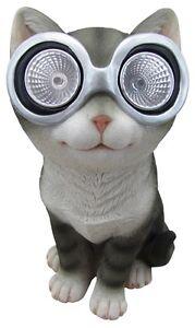 Kitten-Cat-Animal-Solar-Lights-Outdoor-Garden-Statue-Brand-New-Selling-Cheap