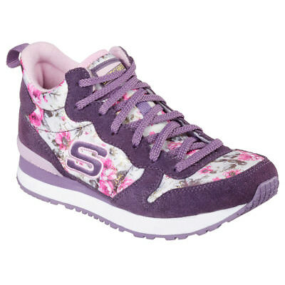 NEW SKECHERS Girls Sneaker Trainers Memory Foam RETROSPECT HOLLYWOOD ROSE Purple