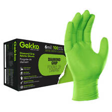 Gekko 6.Mil Diamond Textured Grip Nitrile Gloves