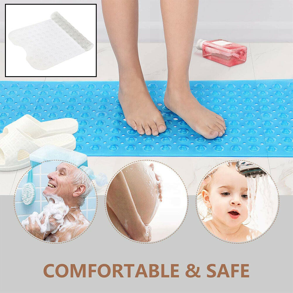 Extra Large Bath Mat Non Slip Tub Bathroom Bathtub Shower Anti Bacterial Pebbled
