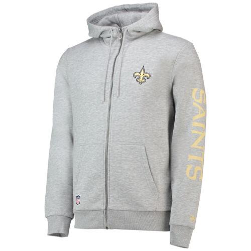 NFL New Orleans Saints Era Core Zip Fan Kapuzenpullover Hoodie Sweatshirt Herren