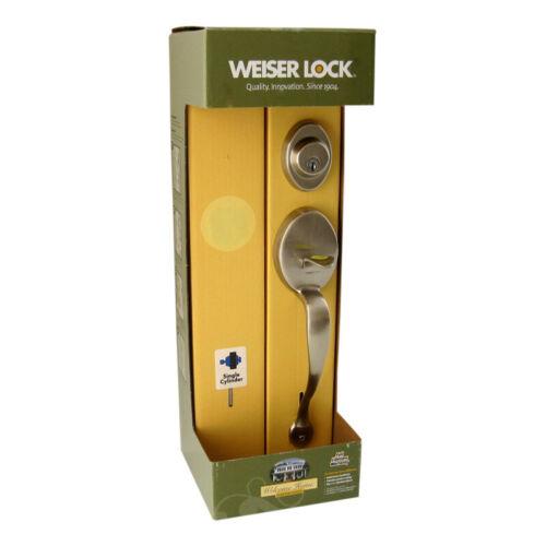 Satin Nickel Weiser Pre-2008 Augusta Door Knob Handleset Less Interior Pack