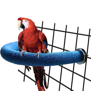 Bird-Stand-Perch-Chew-Branch-Cage-Budgie-Pet-Platform-Parrot-Grinding-Bites-NR7