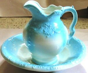 AYNEIS-POTTERY-PITCHER-amp-WASH-BOWL-FREE-SHIPPING