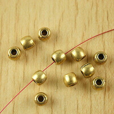40pcs dark gold-tone gold round spacer beads h2044