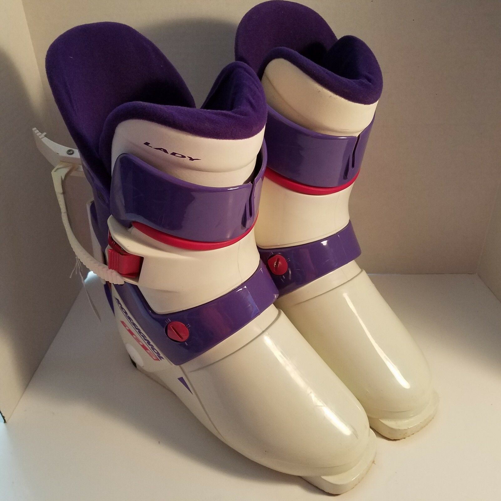 Rossignol Lady 105 Womens Ski Boots Size 25.5 White purple Made In