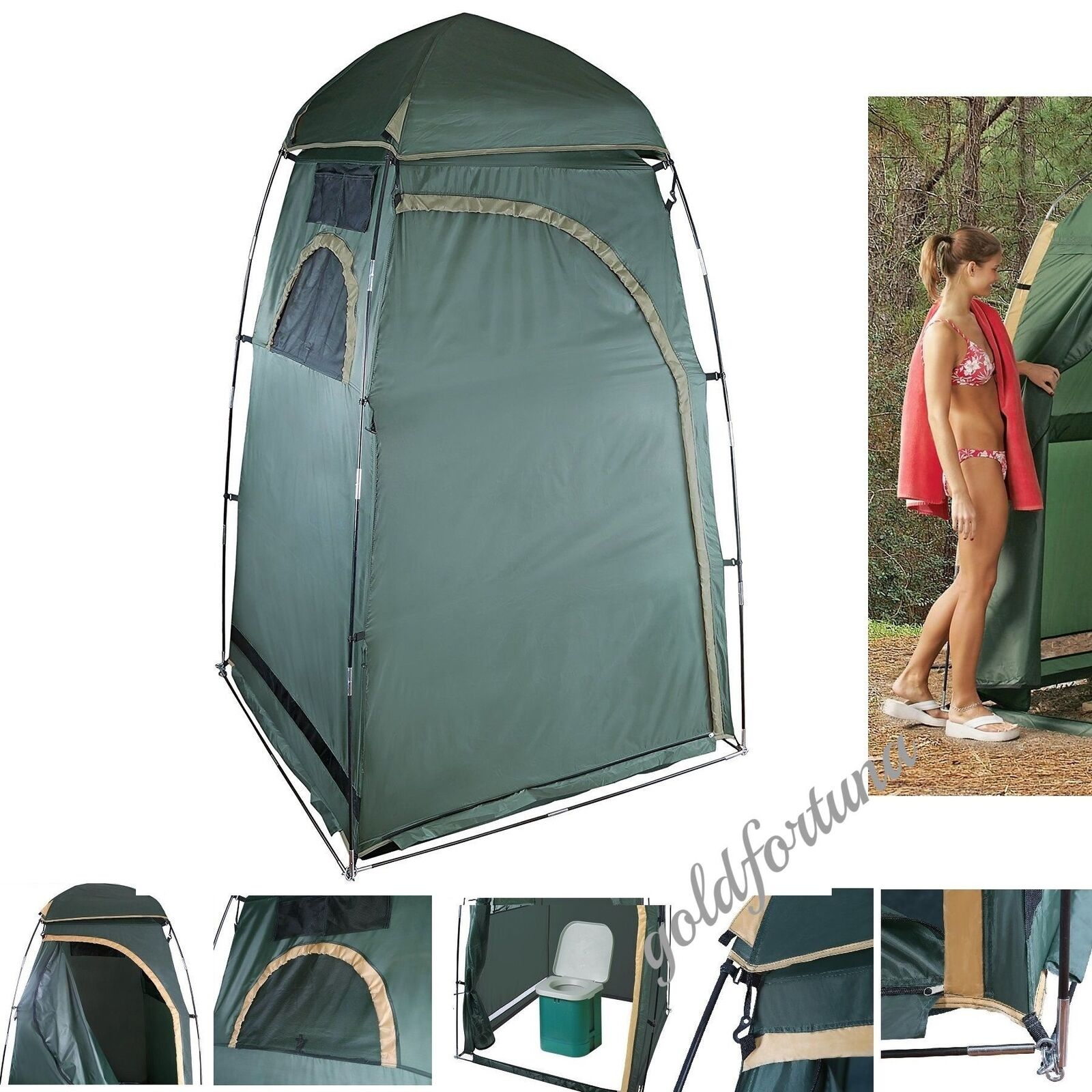 Camping Bathroom Tent Privacy Outdoor Shelter Portable Changing Room Toilet