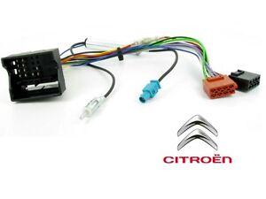 cable adaptateur iso autoradio citroen c2 c3 c4 c5 c6 c8 berlingo jumpy antenn ebay. Black Bedroom Furniture Sets. Home Design Ideas