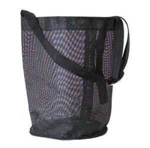 horse-feed-bag-hay-grain-equine-new-black-mesh-tack-travel-trailer-adjustable