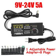 3v 24v 5a Adjustable Voltage Power Supply Adapter Charger 120w Transformer Sets