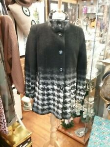 Women-Winter-WOOL-Overcoat-Coat-Ladies-Collar-black-and-white-by-Busy-12