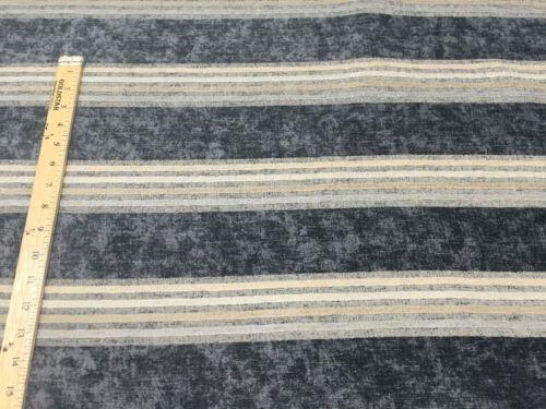 Fabricut Moondance Stripe Blue Upholstery Chenille Fabric By the yard