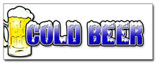 48 Cold Beer Concession Decal Ice Drink Vendor Cart Trailer Stand Sticker