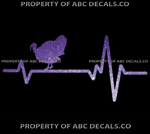 VRS Heart Beat Line HUNTING Gun Rifle Scope WILD TURKEY Ammo CAR METAL DECAL
