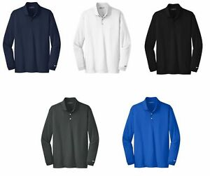 Nike-Long-Sleeve-Dri-FIT-Stretch-Tech-Polo-Mens-Victory-Choose-Size-and-Color