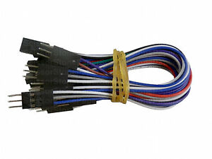 10X 6 inch 3 pin pins Female - Male Arduino Jumper Cables Wires ...