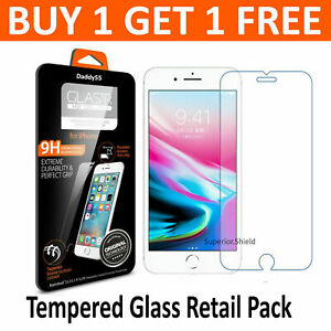 Tempered-Glass-Screen-Protector-For-Apple-iPhone-7-Plus-100-Genuine