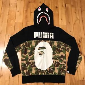 najtańszy ponadczasowy design sklep Details about PUMA A BATHING APE BAPE MEN HOODIE ZIP UP JACKET COAT SHARK  PRINT SMALL S JAPAN