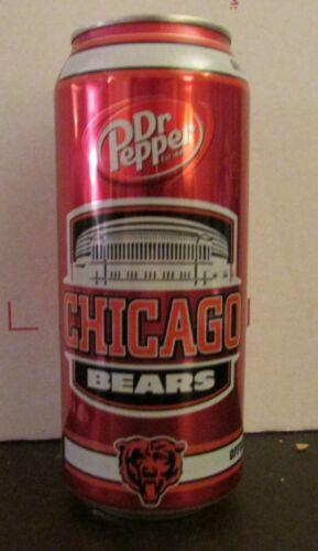 Pepper Chicago Bears 2014 empty aluminum soda pop can NFL football 16oz Dr