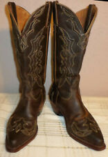 c54e286410d Black Star Hidalgo Brown Women's Leather Cowboy BOOTS 9 for sale ...