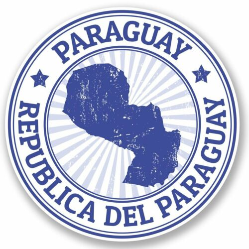 2 x paraguay vinyle autocollant ordinateur portable voyage bagages #4657