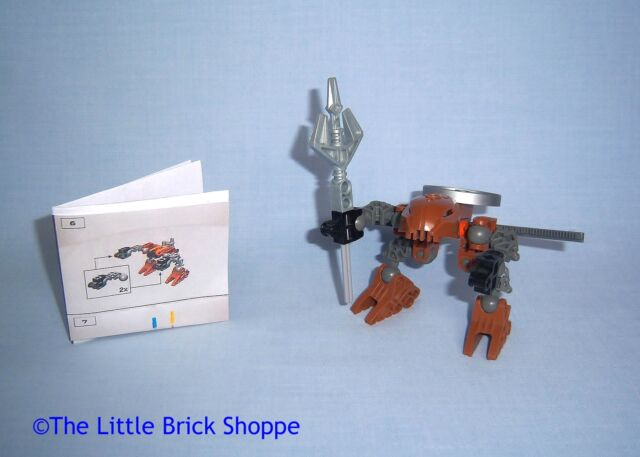 Rare Lego Bionicle 4869 Rahaga POUKS - Complete figure with printed instructions