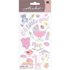 EK SUCCESS STICKO OUR LITTLE GIRL NEW BABY ICONS SCRAPBOOK STICKERS