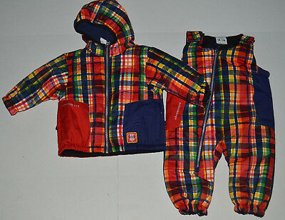 NWT Infant Boy 6-12 M Obermeyer Blue//Red Plaid Winter Jacket//Coat~Snowpants $149
